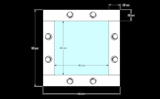 Drewniane lustro 50x50 ROF-8