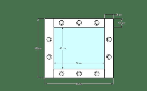 Drewniane lustro 50x60 ROF-10