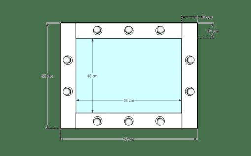 Drewniane lustro 50x70 ROF-10