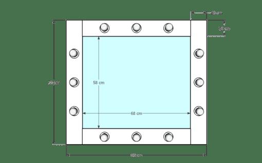 Drewniane lustro 60x70 ROF-12