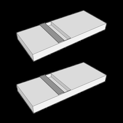 Dwie podstawki do panelu oświetleniowego - przenośne oświetlenie do makijażu