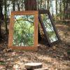 Lustra w drewnianej ramie PURE NATURE w kolorze jasny dąb i orzech