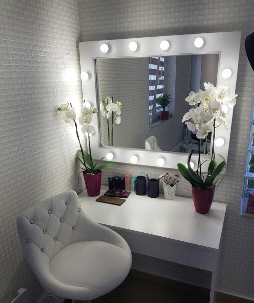 Lustro do makijażu 60x80 ROF-14 ECO oraz toaletka LUNA M ECO