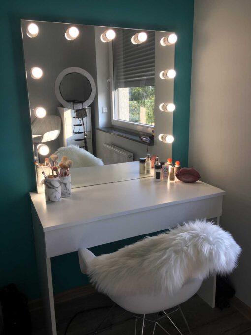 Toaletka LUNA M oraz lustro do makijażu 90x90 OWT-13 ECO
