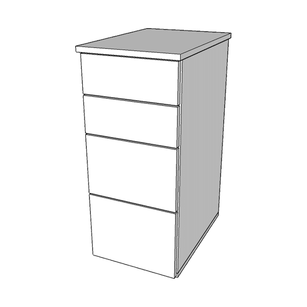 Słupek z szufladami MARS N-4 o wysokości 78cm