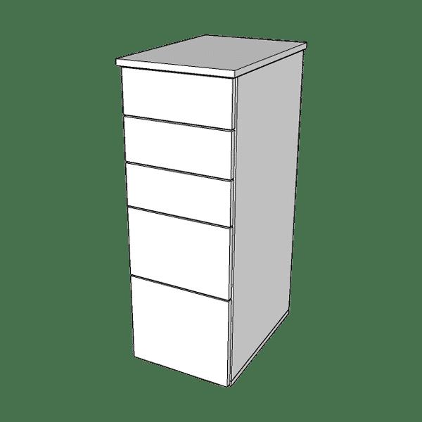 Słupek z szufladami MARS W-5 o wysokości 95cm