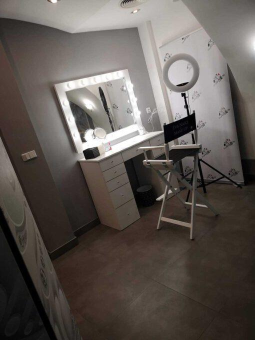 Toaletka DELUXE 11W120 oraz lustro do makijażu 70x100 ROF-16 ECO
