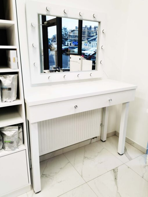 Lustro 60x80 ROF-14 ECO oraz toaletka kosmetyczna na nogach